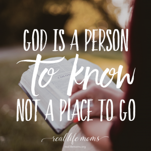 God is a person to know